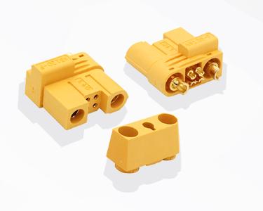 Разъем Amass AS120-F (2+4) безыскровый (розетка, 120А, желтый)